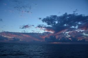 Sunset after a tiring first day